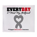 Brain Cancer Girlfriend Throw Blanket