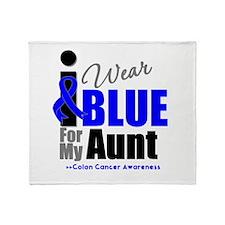 IWearBlue Aunt Throw Blanket