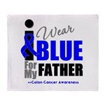 IWearBlue Father Throw Blanket