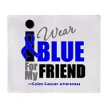 IWearBlue Friend Throw Blanket