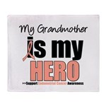 Endometrial Cancer Hero Throw Blanket