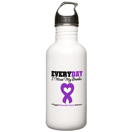 PancreaticCancer Brother Stainless Water Bottle 1.