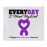 PancreaticCancer Dad Throw Blanket
