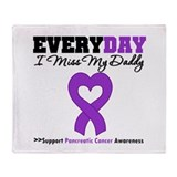 PancreaticCancer Daddy Throw Blanket