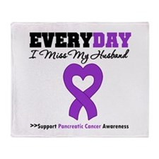PancreaticCancerHusband Throw Blanket