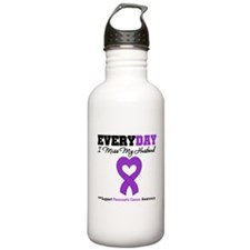 PancreaticCancerHusband Water Bottle