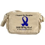 ColonCancerHeart Daughter Messenger Bag