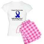 ColonCancerHeart Grandpa Women's Light Pajamas