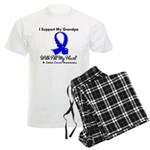ColonCancerHeart Grandpa Men's Light Pajamas
