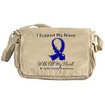 ColonCancerHeart Niece Messenger Bag