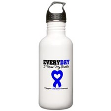 ColonCancerHeart Brother Water Bottle