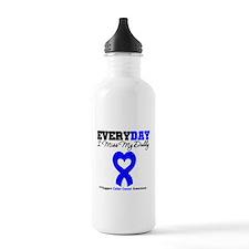 ColonCancerHeart Daddy Water Bottle