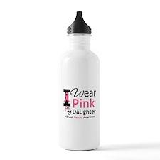 I Wear Pink Daughter Water Bottle