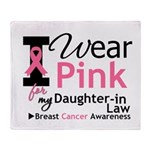 IWearPink Daughter-in-Law Throw Blanket
