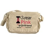 I Wear Pink Girlfriend Messenger Bag