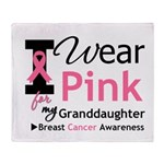 IWearPink Granddaughter Throw Blanket