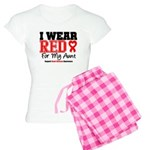 I Wear Red Aunt Women's Light Pajamas
