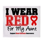 I Wear Red Aunt Throw Blanket