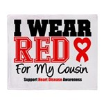 I Wear Red Cousin Throw Blanket