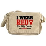 I Wear Red Cousin Messenger Bag