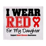 I Wear Red Daughter Throw Blanket