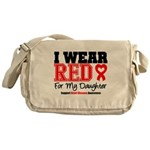 I Wear Red Daughter Messenger Bag