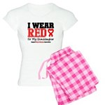I Wear Red Granddaughter Women's Light Pajamas