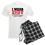 I Wear Red Granddaughter Men's Light Pajamas
