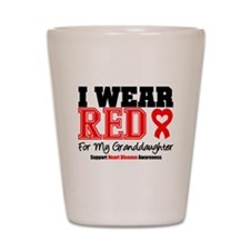 I Wear Red Granddaughter Shot Glass