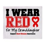 I Wear Red Granddaughter Throw Blanket
