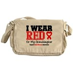 I Wear Red Granddaughter Messenger Bag