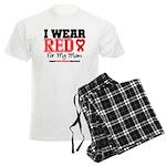 I Wear Red Mom Men's Light Pajamas