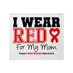I Wear Red Mom Throw Blanket