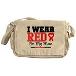 I Wear Red Mom Messenger Bag