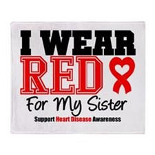 I Wear Red Sister Throw Blanket