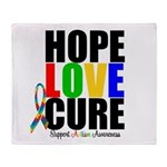 HopeLoveCure Autism Throw Blanket