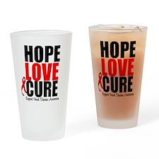 HopeLoveCure HeartDisease Drinking Glass