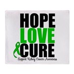 HopeLoveCure KidneyCancer Throw Blanket