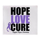 HopeLoveCure Lupus Throw Blanket