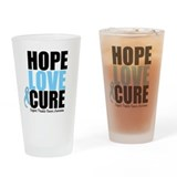 HopeLoveCure Prostate Cancer Drinking Glass