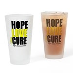 HopeLoveCure Sarcoma Drinking Glass