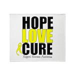 HopeLoveCure Sarcoma Throw Blanket