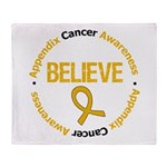 Appendix Cancer Believe Throw Blanket