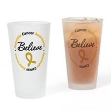Appendix Cancer Believe Drinking Glass
