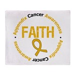 Appendix Cancer Faith Throw Blanket