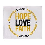 AppendixCancerHope Throw Blanket