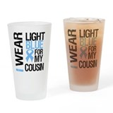IWearLightBlue Cousin Drinking Glass