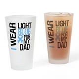 IWearLightBlue Dad Drinking Glass