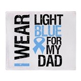 IWearLightBlue Dad Throw Blanket