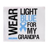 IWearLightBlue Grandpa Throw Blanket